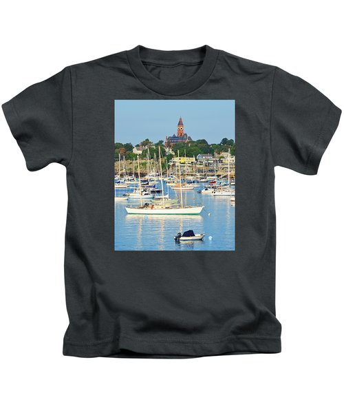 Abbot Hall Over Marblehead Harbor From Chandler Hovey Park Kids T-Shirt