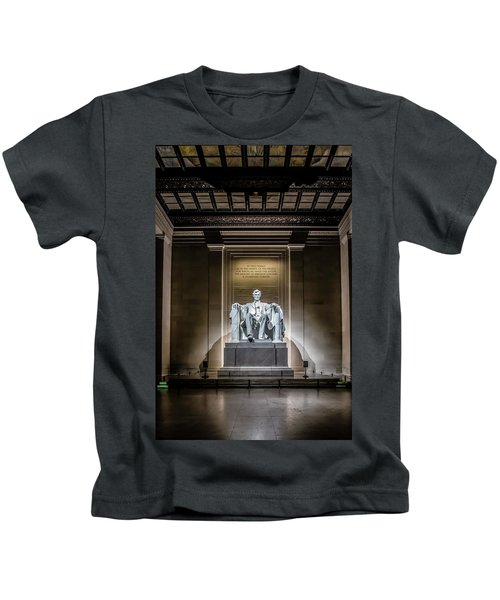Abe Lincoln Under His Night Lights  Kids T-Shirt