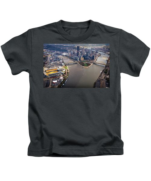 Above Pittsburgh In  Color  Kids T-Shirt