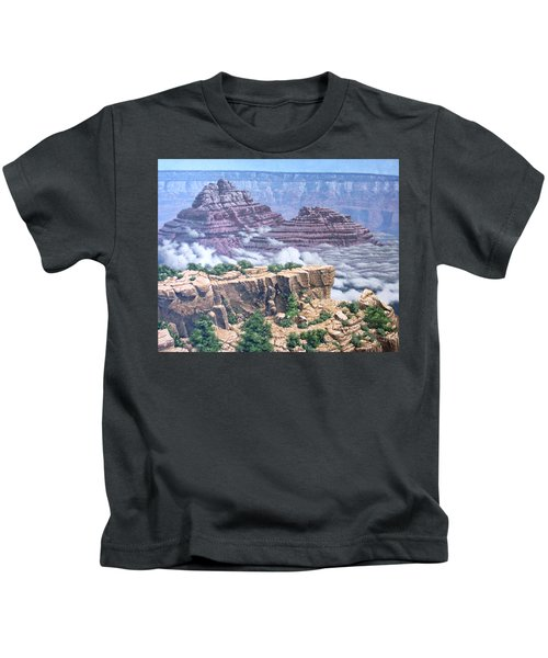 Above The Clouds Grand Canyon Kids T-Shirt by Jim Thomas