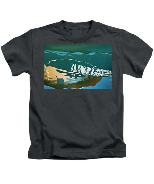 Abstract Boat Reflection Kids T-Shirt