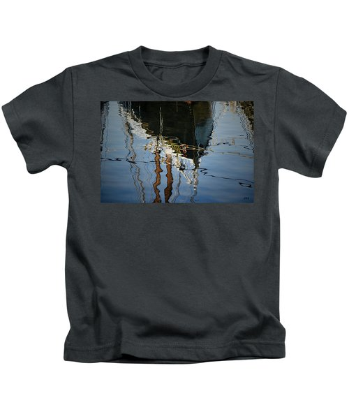 Abstract Boat Reflection IIi Kids T-Shirt