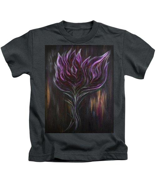 Abstract Dark Rose Kids T-Shirt