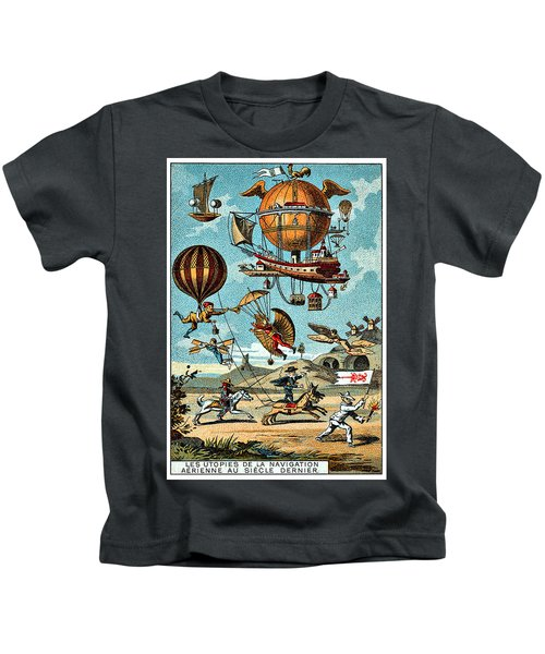 Abstract Flying Machines Kids T-Shirt