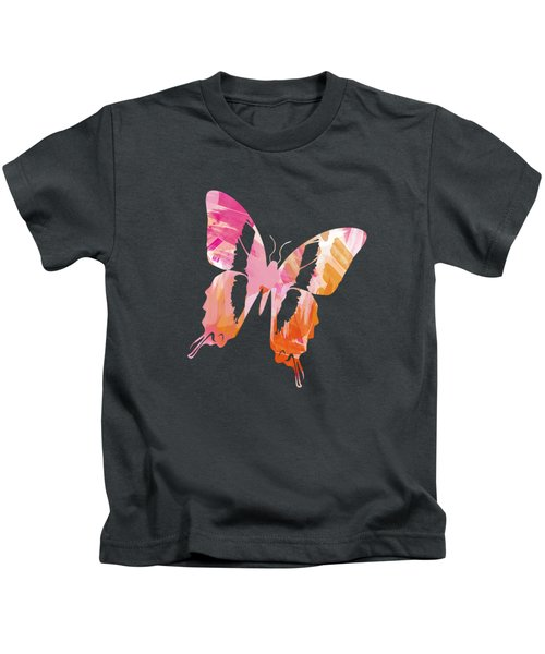 Kids T-Shirt featuring the mixed media Abstract Paint Pattern by Christina Rollo