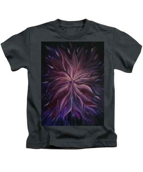 Abstract Purple Flower Kids T-Shirt