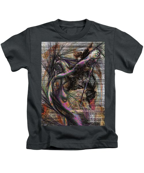 Abstract Sketch 1334 Kids T-Shirt
