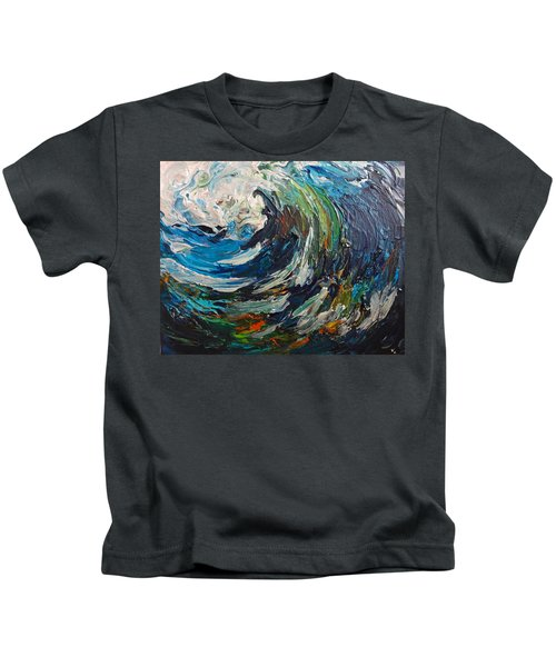 Abstract Wild Wave  Kids T-Shirt