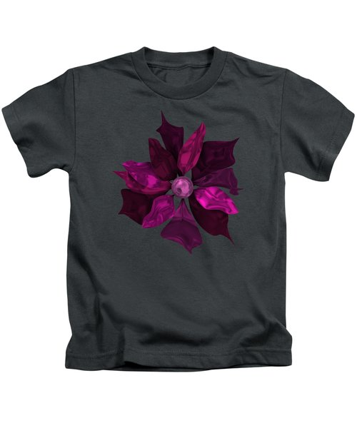 Abstrct Violet Flower Kids T-Shirt