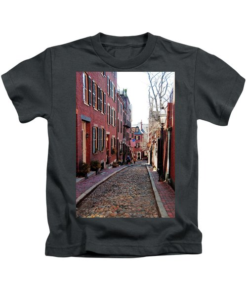 Acorn Street Beacon Hill Kids T-Shirt