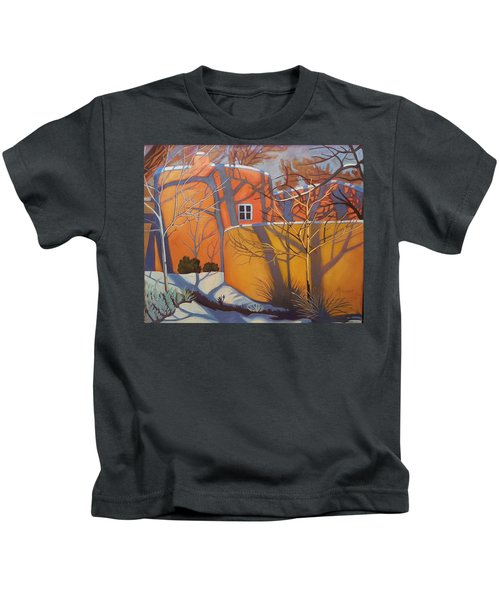Adobe, Shadows And A Blue Window Kids T-Shirt