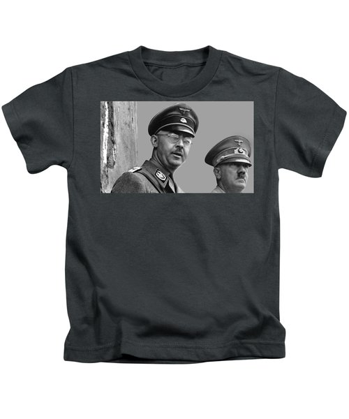 Adolf Hitler And Gestapo Head Heinrich Himmler Watching Parade Of Nazi Stormtroopers 1940-2015 Kids T-Shirt