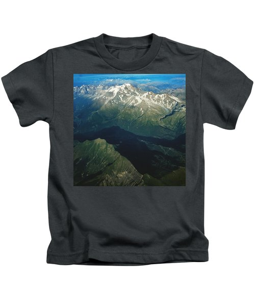 Aerial Photograph Of The Swiss Alps Kids T-Shirt