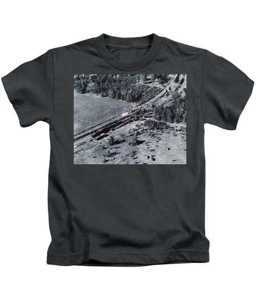 Aerial Train Wreck Kids T-Shirt