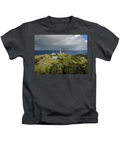 Aerial View Of Cape Moreton Lighthouse Precinct Kids T-Shirt