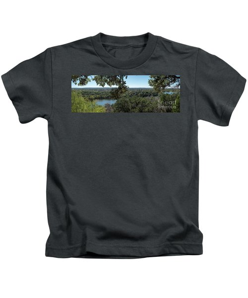 Aerial View Of Large Forest And Lake Kids T-Shirt