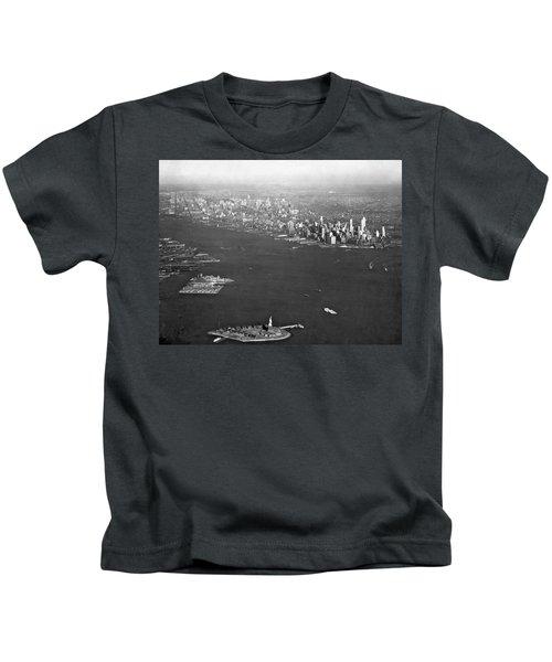 Aerial View Of New York City Kids T-Shirt