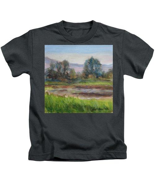 Afternoon At Sauvie Island Wildlife Viewpoint Kids T-Shirt