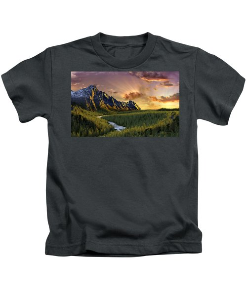 Against The Twilight Sky Kids T-Shirt