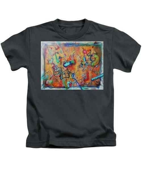 Digital Landscape, Airbrush 1 Kids T-Shirt