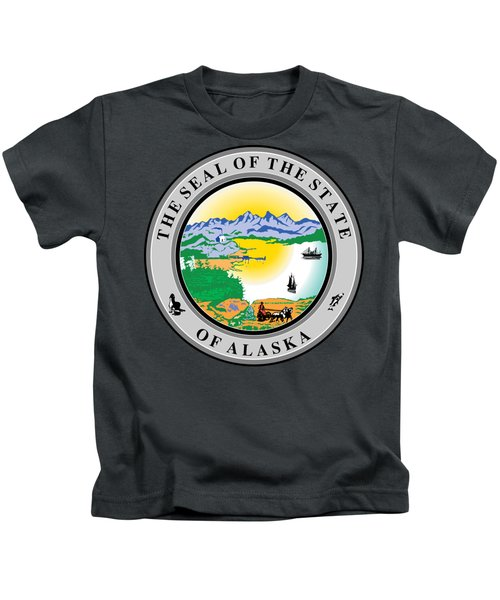 Alaska State Seal Kids T-Shirt