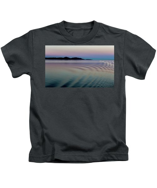 Alaskan Sunset At Sea Kids T-Shirt
