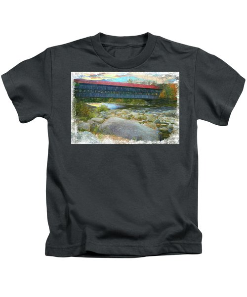 Albany Covered Bridge Nh. Kids T-Shirt