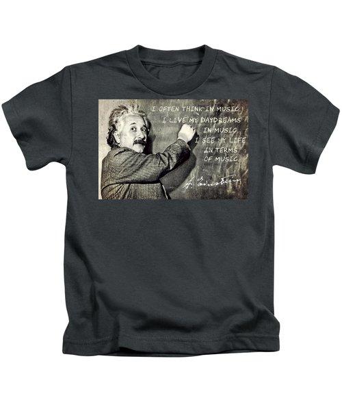 Albert Einstein, Physicist Who Loved Music Kids T-Shirt