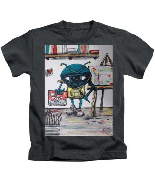 Alien Artist Kids T-Shirt