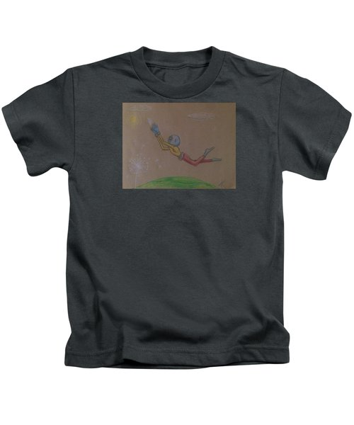 Alien Chasing His Dreams Kids T-Shirt