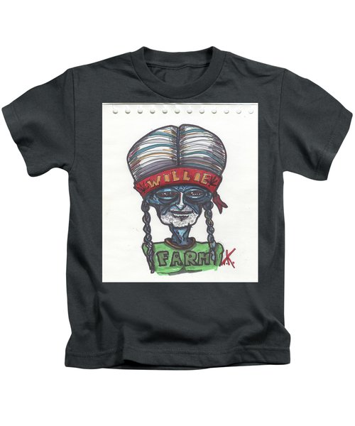 alien Willie Nelson Kids T-Shirt