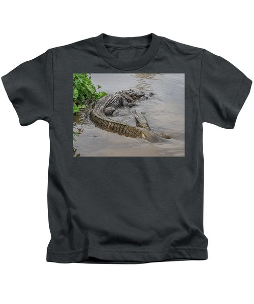 Alligators Courting Kids T-Shirt