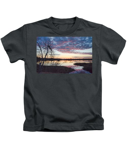Almost Spring Sunset Kids T-Shirt