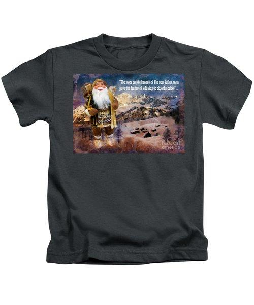Alpine Santa Card 2015 Kids T-Shirt