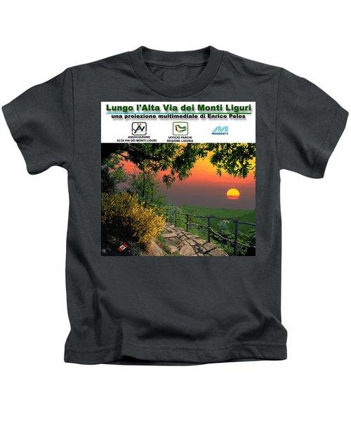 Alta Via Dei Monti Liguri Cd Case Label Kids T-Shirt