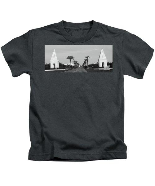 Alys Beach Entrance Kids T-Shirt by Megan Cohen