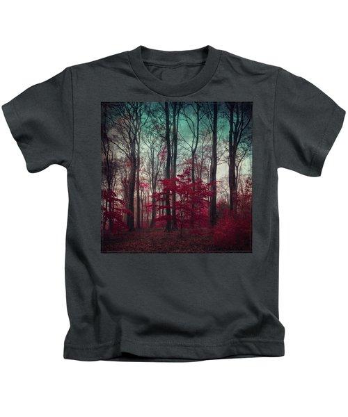 A.maze - Enchanted Red Forest Kids T-Shirt