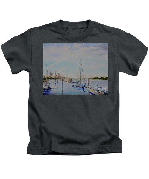 Amelia Island Port Kids T-Shirt