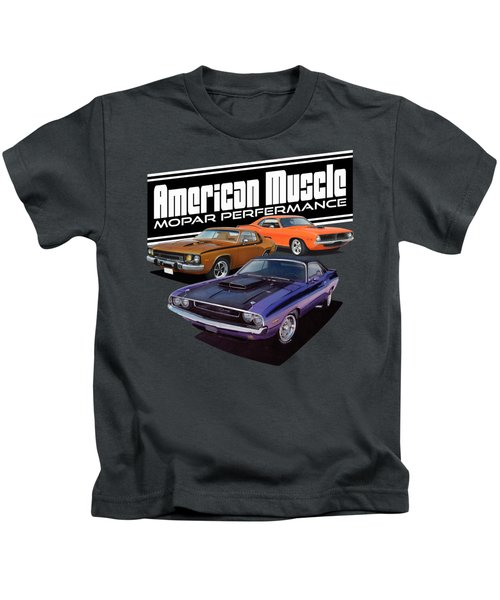 American Mopar Muscle Kids T-Shirt by Paul Kuras