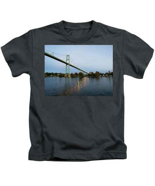 American Span Thousand Islands Bridge Kids T-Shirt