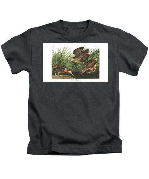 American Woodcock Kids T-Shirt by MotionAge Designs