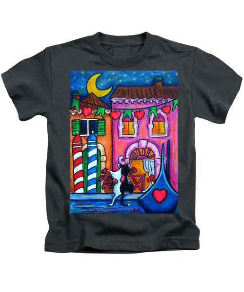 Amore In Venice Kids T-Shirt
