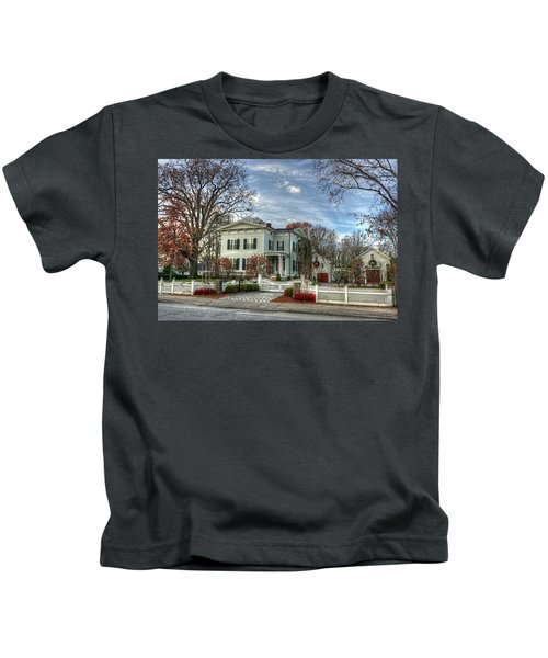 Amos Tuck House In Late Autumn Kids T-Shirt