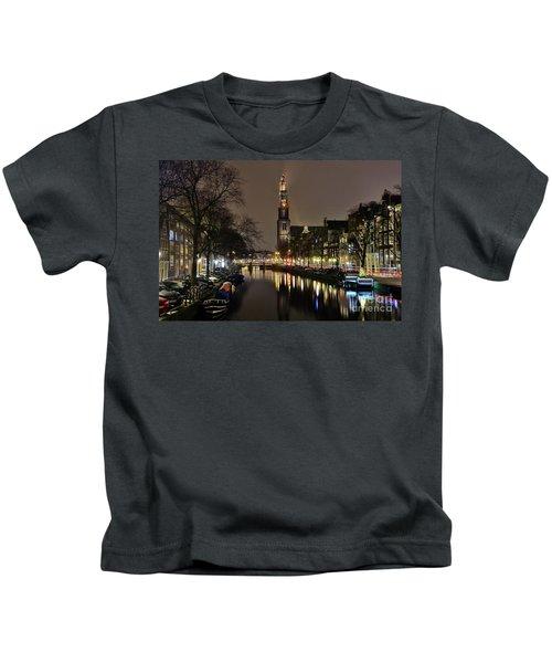Amsterdam By Night - Prinsengracht Kids T-Shirt