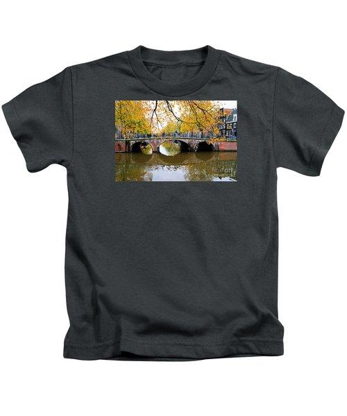 Amsterdam Canal Reflections Kids T-Shirt