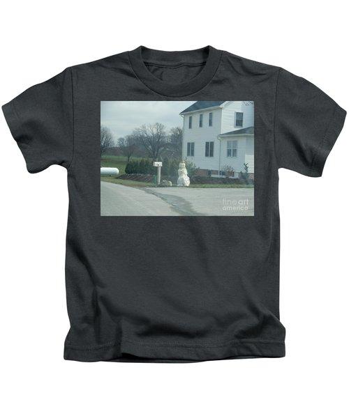 An Amish Snowman Kids T-Shirt