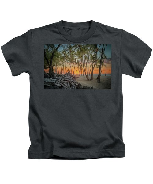 Anaehoomalu Beach Sunset Kids T-Shirt