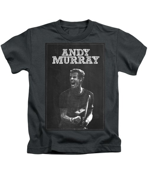 Andy Murray Kids T-Shirt by Semih Yurdabak