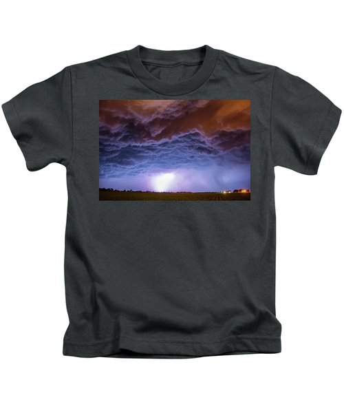 Another Impressive Nebraska Night Thunderstorm 007 Kids T-Shirt