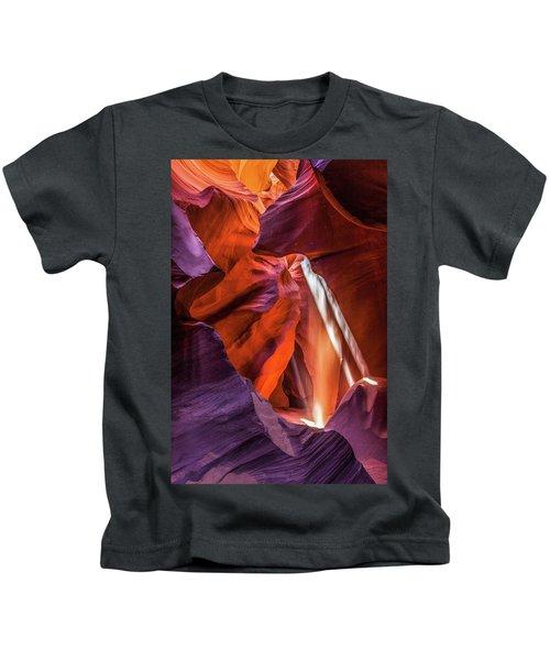 Antelope Canyon Lightshaft 3 Kids T-Shirt
